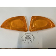 Front Indicator Lens - Amber - Pair