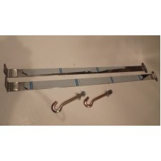 Petrol tank straps with hooks.